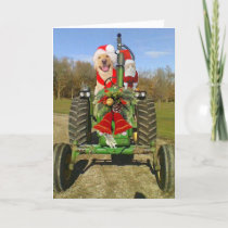 Farm Blessing Christmas Holiday Card