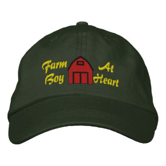 Farm Boy At Heart Embroidered Hat