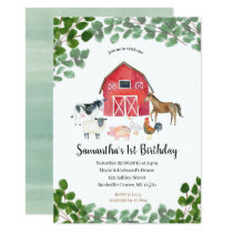 Farm Boy Birthday Invitation Greenery