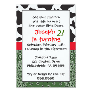 Farm  Boy Inspired Birthday Invitation