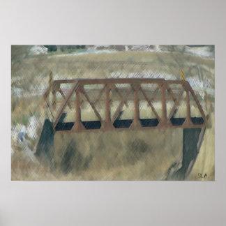 Farm Bridge Prints Poster