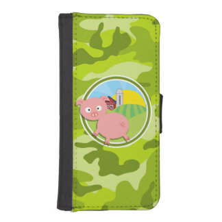 Farm; bright green camo, camouflage phone wallet cases