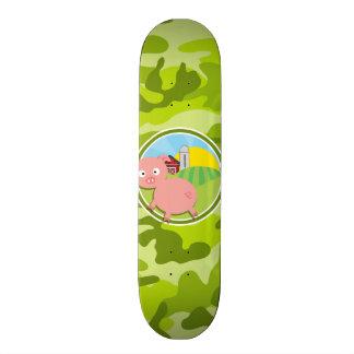 Farm; bright green camo, camouflage skate board