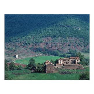 Farm buildings, Lentiourel, France in Europe Flyer