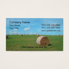 Farm Business Card at Zazzle