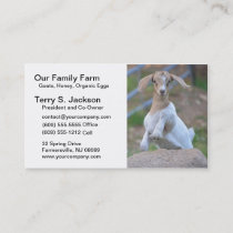 Farm Business Card with Kid Bohr Goat