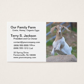 Farm Business Card with Kid Bohr Goat