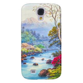 Farm By Flowing Stream K Seki watercolor scenery Samsung S4 Case
