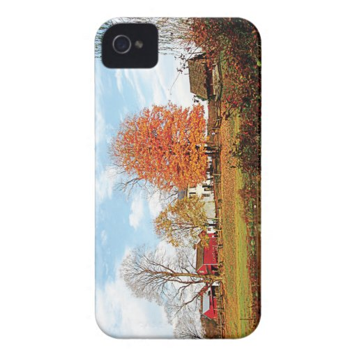 Farm by Pond in Autumn Blackberry Cases