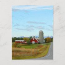 Farm by the road postcard