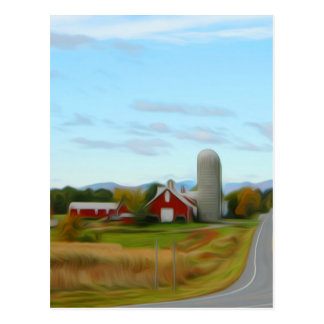 Farm by the road postcard