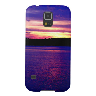 Farm Camper Lake Sunset Blue Purple Lake Galaxy Nexus Cases