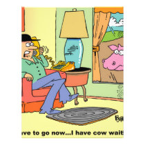 Farm Cartoon Cow Humor Flyer