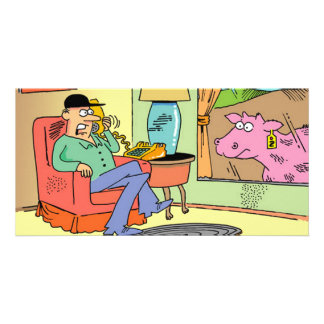 Farm Cartoon Cow Humor Photo Card Template
