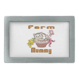 Farm Cat Mom Rectangular Belt Buckle