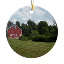 farm ceramic ornament
