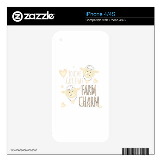 Farm Charm Decals For The iPhone 4