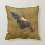 Farm Chicken Rooster Rustic Country Barnyard Style Throw Pillow