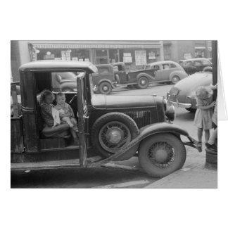 Farm Children Visiting Town, 1941 Card