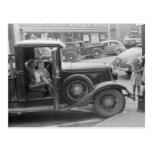 Farm Children Visiting Town, 1941 Postcard