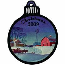 Farm Christmas 2009 Ornament