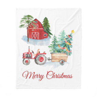 Farm Christmas Blanket