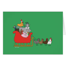 Farm Christmas Greeting Card