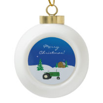 Farm Christmas Ornament