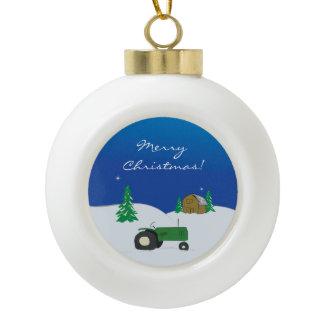 Farm Christmas Ornament