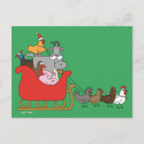 Farm Christmas Postcards
