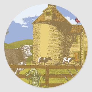 Farm Classic Round Sticker