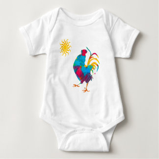 Farm Colorful Pet Rooster Baby Bodysuit