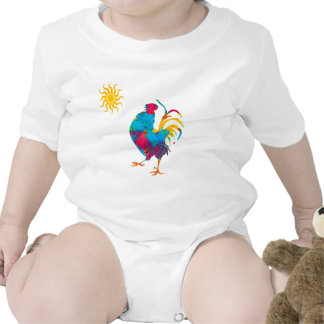 Farm Colorful Pet Rooster Tee Shirts
