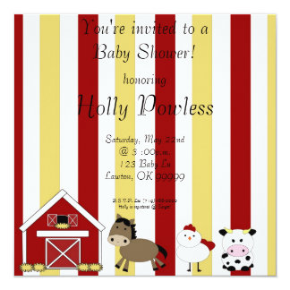 farm copy, You're invited to aBaby Shower!, hon... Invitation