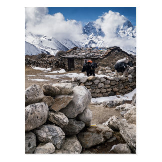 Farm Cottage in the Snowy Mountians (Himalayas) Postcard
