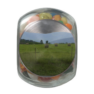 Farm Country Glass Candy Jars