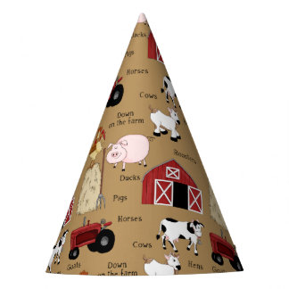 Farm Country pattern paper hats