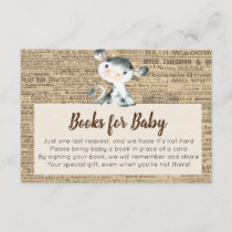 Farm Cow Books for Baby Card