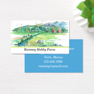 Farm Cows Red Barn Business Card