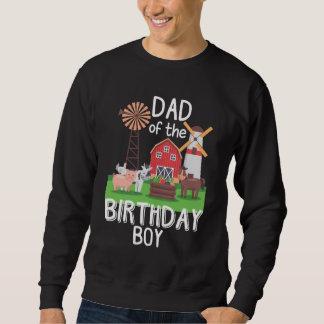 Farm Dad Birthday Boy Mother Animal loving Kid Sweatshirt