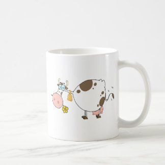 Farm Dairy Cow Chewing On A Flower Coffee Mug