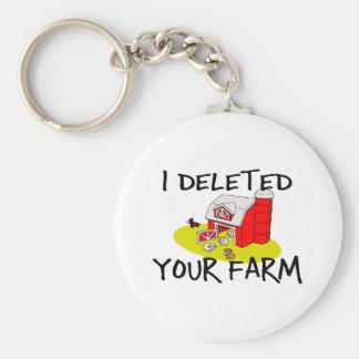 Farm Deleted Keychain
