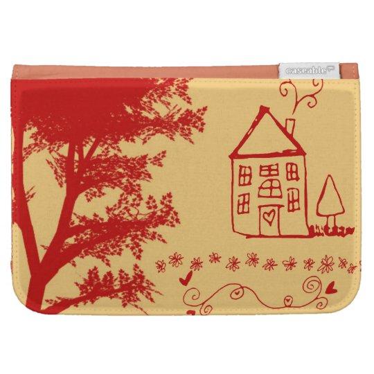 Farm Doodle House Kindle Case