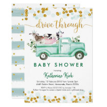 Farm Drive Through Baby Shower Invitation
