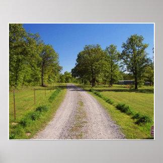 Farm Driveway Poster