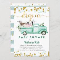 Farm Drop In Social Distancing Baby Shower Invitation