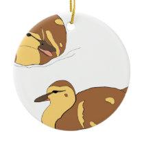 farm ducks ceramic ornament