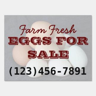 Farm Eggs For Sale Yard Sign