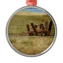 Farm Equipment Metal Ornament
