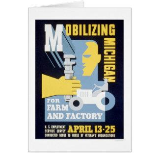 Farm Factory Michigan 1943 WPA Card